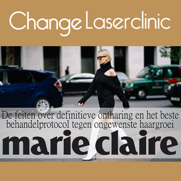 Artikel Marie Claire magazine over definitief ontharen