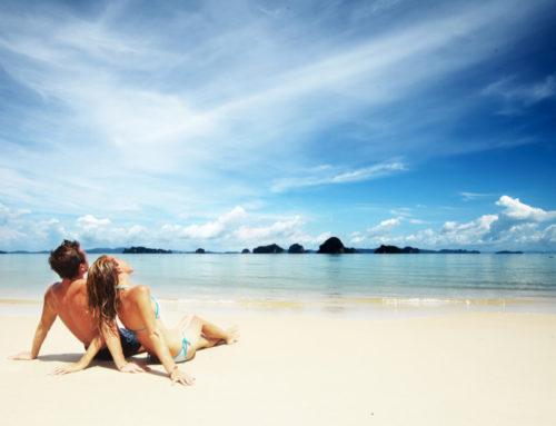 Geniet van de zon en vakantie